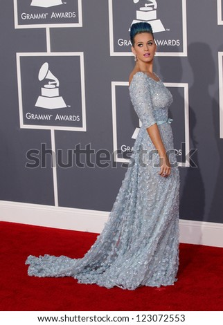 LOS ANGELES - FEB 12:  KATY PERRY arriving to Grammy Awards 2012  on February 12, 2012 in Los Angeles, CA