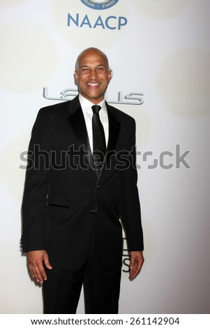 LOS ANGELES - FEB 6:  Keegan-Michael Key at the 46th NAACP Image Awards Arrivals at a Pasadena Convention Center on February 6, 2015 in Pasadena, CA - stock photo