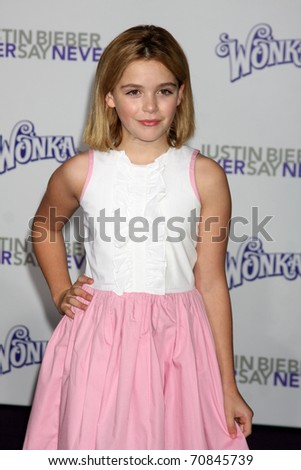 "LOS ANGELES - FEB 8:  Kiernan Shipka  arrives at the ""Never Say Never"" Premiere at Nokia Theater  on February 8, 2011 in Los Angeles, CA"
