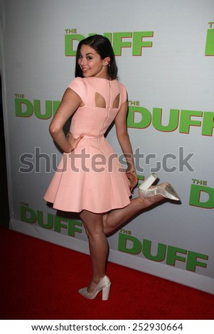 """LOS ANGELES - FEB 12:  Kira Kosarin at the """"The Duff"""" Los Angeles Premiere at a TCL Chinese 6 Theaters on February 12, 2015 in Los Angeles, CA - stock photo"""