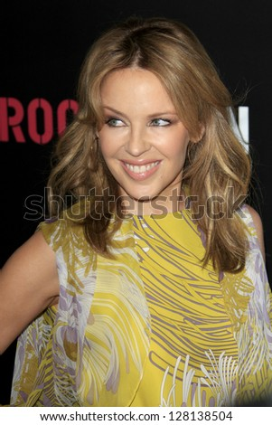 LOS ANGELES - FEB 9:  Kylie Minogue arrives at the ROC NATION Annual Pre-Grammy Brunch at the Soho House on February 9, 2013 in West Hollywood, CA - stock photo