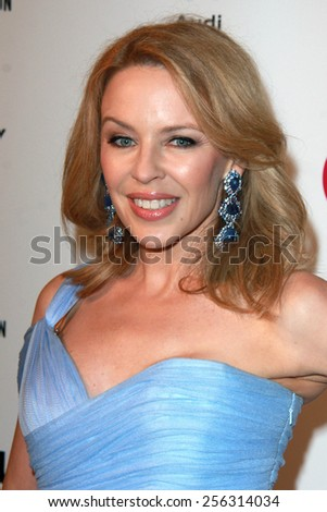 LOS ANGELES - FEB 22:  Kylie Minogue at the Elton John Oscar Party 2015 at the City Of West Hollywood Park on February 22, 2015 in West Hollywood, CA - stock photo