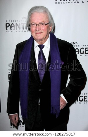 LOS ANGELES - FEB 12:  Leslie Bricusse arrives at the Jekyll & Hyde Play Opening at the Pantages Theater on February 12, 2013 in Los Angeles, CA