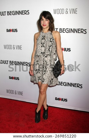 """LOS ANGELES - FEB 15:  Lindsay Sloane at the """"Adult Beginners"""" Los Angeles Premiere at the ArcLight Hollywood Theaters on April 15, 2015 in Los Angeles, CA - stock photo"""