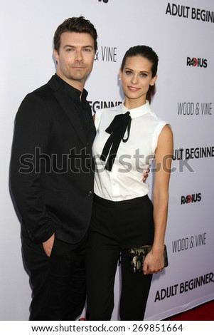 """LOS ANGELES - FEB 15:  Lyndsy Fonseca at the """"Adult Beginners"""" Los Angeles Premiere at the ArcLight Hollywood Theaters on April 15, 2015 in Los Angeles, CA - stock photo"""