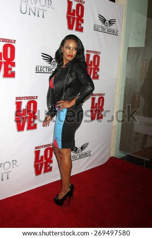 "LOS ANGELES - FEB 13:  Malaysia Pargo at the ""Brotherly Love"" LA Premiere at the Silver Screen Theater at the Pacific Design Center on April 13, 2015 in West Hollywood, CA - stock photo"