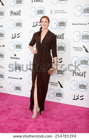 LOS ANGELES - FEB 21:  Marcia Cross at the 30th Film Independent Spirit Awards at a tent on the beach on February 21, 2015 in Santa Monica, CA - stock photo