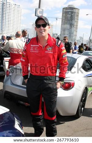 LOS ANGELES - FEB 7:  Mark McGrath at the Toyota Grand Prix of Long Beach Pro/Celebrity Race Press Day at the Grand Prix Compound on FEB 7, 2015 in Long Beach, CA - stock photo
