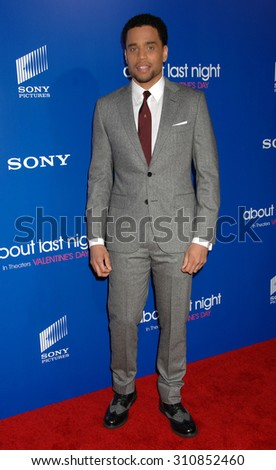 LOS ANGELES - FEB 11:  Michael Ealy arrives at the Pan African Film and Arts Festival Premiere of Screen Gems About Last Night   on February 11, 2014 in Hollywood, CA                 - stock photo