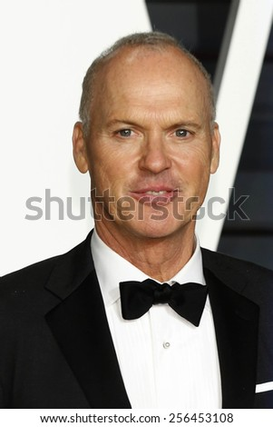 LOS ANGELES - FEB 22:  Michael Keaton at the Vanity Fair Oscar Party 2015 at the Wallis Annenberg Center for the Performing Arts on February 22, 2015 in Beverly Hills, CA - stock photo