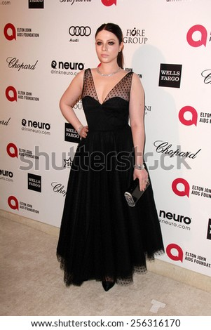 LOS ANGELES - FEB 22:  Michelle Trachtenberg at the Elton John Oscar Party 2015 at the City Of West Hollywood Park on February 22, 2015 in West Hollywood, CA - stock photo