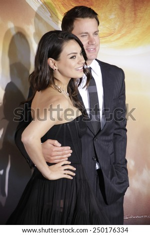 LOS ANGELES - FEB 2: Mila Kunis, Channing Tatum at the 'Jupiter Ascending' Los Angeles Premiere at TCL Chinese Theater on February 2, 2015 in Hollywood, Los Angeles, California - stock photo