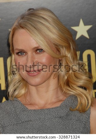 LOS ANGELES - FEB 14 - Naomi Watts arrives at the Simon Baker  Star On The Hollywood Walk Of Fame Ceremony on February 14, 2013 in Los Angeles, CA              - stock photo