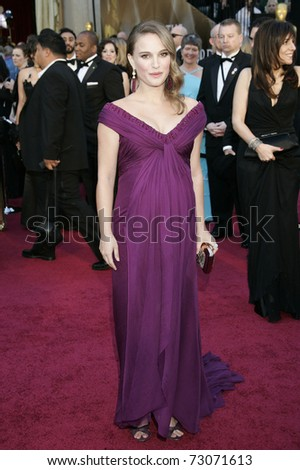 LOS ANGELES - FEB 27:  Natalie Portman arrives at the 83rd Annual Academy Awards - Oscars at the Kodak Theater on February 27, 2011 in Los Angeles, CA. - stock photo