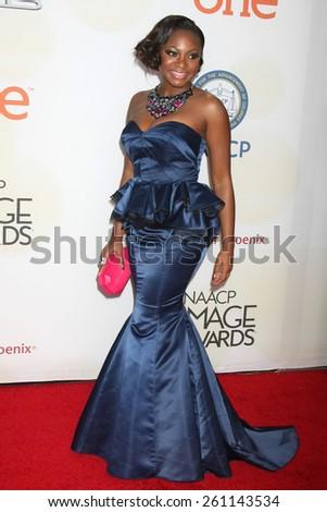 LOS ANGELES - FEB 6:  Naturi Naughton at the 46th NAACP Image Awards Arrivals at a Pasadena Convention Center on February 6, 2015 in Pasadena, CA - stock photo