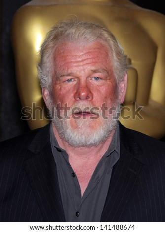 LOS ANGELES - FEB 6:  NICK NOLTE arrives to the 2012 Academy Awards Nominee Luncheon  on Feb 6, 2012 in Beverly Hills, CA