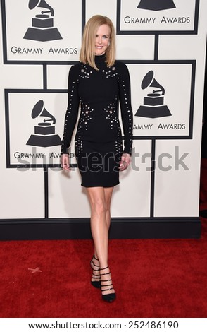 LOS ANGELES - FEB 08:  Nicole Kidman arrives to the Grammy Awards 2015  on February 8, 2015 in Los Angeles, CA                 - stock photo