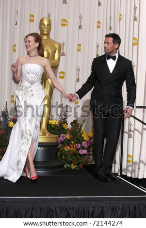 LOS ANGELES -  FEB 27: Nicole Kidman, Hugh Jackman arrive in the Press Room at the 83rd Academy Awards at Kodak Theater, Hollywood & Highland on February 27, 2011 in Los Angeles, CA
