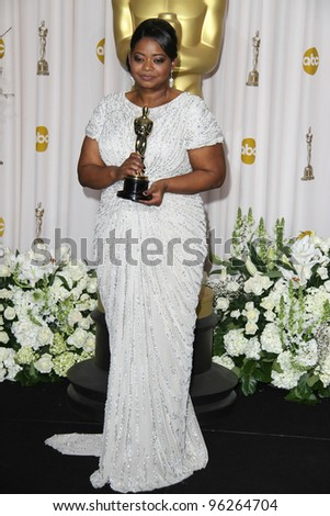 LOS ANGELES - FEB 26:  Octavia Spencer arrives at the 84th Academy Awards at the Hollywood & Highland Center on February 26, 2012 in Los Angeles, CA.