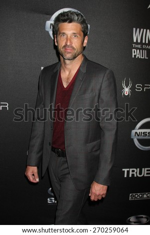 "LOS ANGELES - FEB 16:  Patrick Dempsey at the ""WINNING: The Racing Life of Paul Newman"" Pre-Premiere Reception at the Roosevelt Hotel on April 16, 2015 in Los Angeles, CA - stock photo"