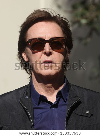 LOS ANGELES - FEB 09:  Paul McCartney arrives to the Walk of Fame Ceremony for Paul McCartney  on Febraury 09, 2012 in Hollywood, CA