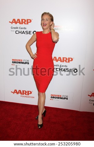 LOS ANGELES - FEB 2:  Penelope Ann Miller at the AARP 14th Annual Movies For Grownups Awards Gala at a Beverly Wilshire Hotel on February 2, 2015 in Beverly Hills, CA - stock photo