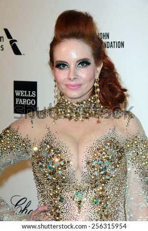 LOS ANGELES - FEB 22:  Phoebe Price at the Elton John Oscar Party 2015 at the City Of West Hollywood Park on February 22, 2015 in West Hollywood, CA - stock photo