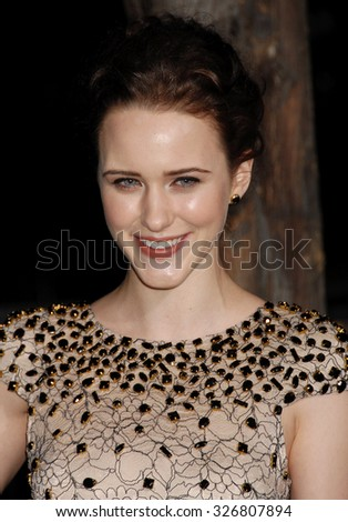 LOS ANGELES - FEB 6 - Rachel Brosnahan arrives at the Beautiful Creatures World Premiere on February 6, 2013 in Los Angeles, CA              - stock photo