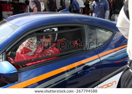 LOS ANGELES - FEB 7:  Raul Mendez at the Toyota Grand Prix of Long Beach Pro/Celebrity Race Press Day at the Grand Prix Compound on FEB 7, 2015 in Long Beach, CA - stock photo