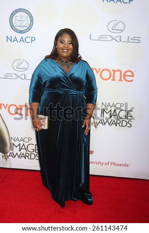 LOS ANGELES - FEB 6:  Raven Goodwin at the 46th NAACP Image Awards Arrivals at a Pasadena Convention Center on February 6, 2015 in Pasadena, CA - stock photo