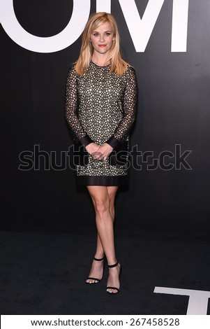 LOS ANGELES - FEB 20:  Reese Witherspoon arrives to the Tom Ford Autumn/Winter 2015 Womenswear Collection Presentation  on February 20, 2015 in Hollywood, CA                 - stock photo