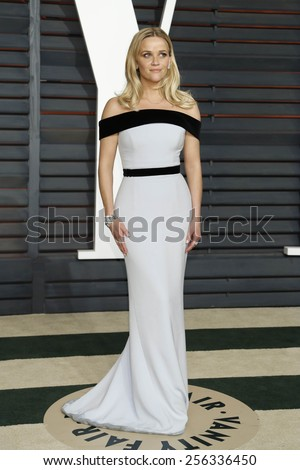 LOS ANGELES - FEB 22:  Reese Witherspoon at the Vanity Fair Oscar Party 2015 at the Wallis Annenberg Center for the Performing Arts on February 22, 2015 in Beverly Hills, CA - stock photo