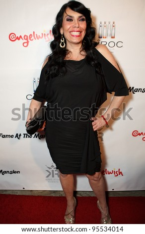 "LOS ANGELES - FEB. 12: Renee Graziano attends the ""Fame At The Mansion"" 2012 Grammy Aterparty hosted by Sean ""Diddy"" Combs held at the Playboy Mansion. Los Angeles, Feb 12, 2012 - stock photo"