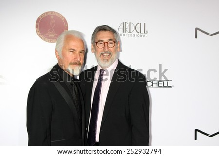 LOS ANGELES - FEB 14:  Rick Baker, John Landis at the 2015 Make-up and Hair Stylists Guild Awards at a Paramount Theater on February 14, 2015 in Los Angeles, CA - stock photo