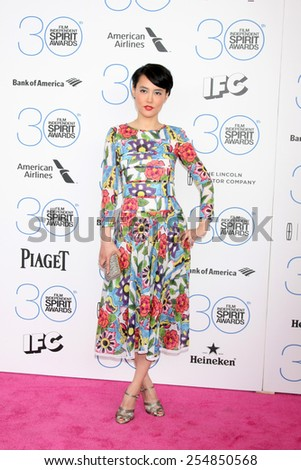 LOS ANGELES - FEB 21:  Rinko Kikuchi at the 30th Film Independent Spirit Awards at a tent on the beach on February 21, 2015 in Santa Monica, CA - stock photo