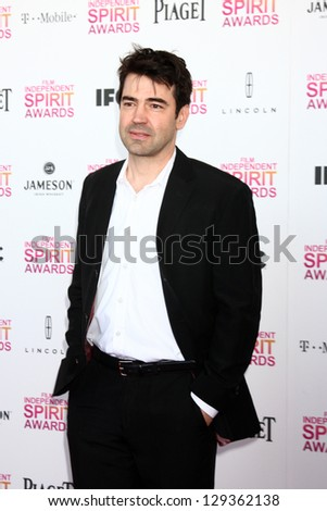LOS ANGELES - FEB 23:  Ron Livingston attends the 2013 Film Independent Spirit Awards at the Tent on the Beach on February 23, 2013 in Santa Monica, CA