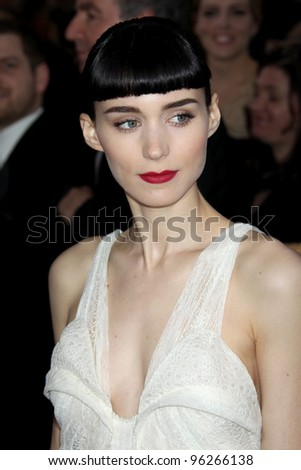 LOS ANGELES - FEB 26:  Rooney Mara arrives at the 84th Academy Awards at the Hollywood & Highland Center on February 26, 2012 in Los Angeles, CA. - stock photo