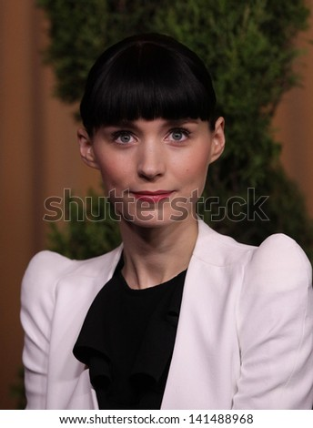 LOS ANGELES - FEB 6:  ROONEY MARA arrives to the 2012 Academy Awards Nominee Luncheon  on Feb 6, 2012 in Beverly Hills, CA - stock photo