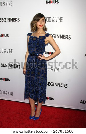 """LOS ANGELES - FEB 15:  Rose Byrne at the """"Adult Beginners"""" Los Angeles Premiere at the ArcLight Hollywood Theaters on April 15, 2015 in Los Angeles, CA - stock photo"""