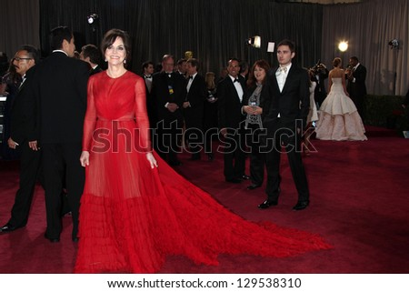 LOS ANGELES - FEB 24:  Sally FIeld arrives at the 85th Academy Awards presenting the Oscars at the Dolby Theater on February 24, 2013 in Los Angeles, CA - stock photo