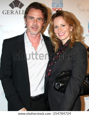 "LOS ANGELES - FEB 19:  Sam Trammell, Missy Yager at the ""Icons of the Awards"" Pre-Oscar Party at a Mr C Beverly Hills on February 19, 2015 in Beverly Hills, CA"