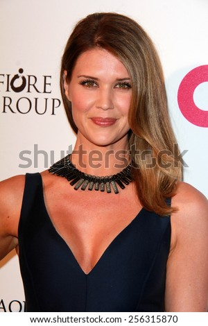 LOS ANGELES - FEB 22:  Sarah Lancaster at the Elton John Oscar Party 2015 at the City Of West Hollywood Park on February 22, 2015 in West Hollywood, CA - stock photo