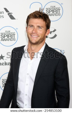 LOS ANGELES - FEB 21:  Scott Eastwood at the 30th Film Independent Spirit Awards at a tent on the beach on February 21, 2015 in Santa Monica, CA - stock photo