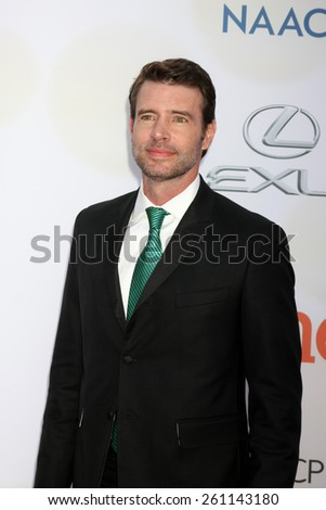 LOS ANGELES - FEB 6:  Scott Foley at the 46th NAACP Image Awards Arrivals at a Pasadena Convention Center on February 6, 2015 in Pasadena, CA - stock photo