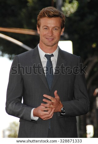 LOS ANGELES - FEB 14 - Simon Baker arrives at the Simon Baker  Star On The Hollywood Walk Of Fame Ceremony on February 14, 2013 in Los Angeles, CA