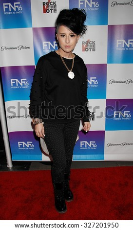 LOS ANGELES - FEB 8 - Sirah arrives at the 16th Annual Friends N Family Pre Grammy Party on February 8, 2013 in Los Angeles, CA              - stock photo