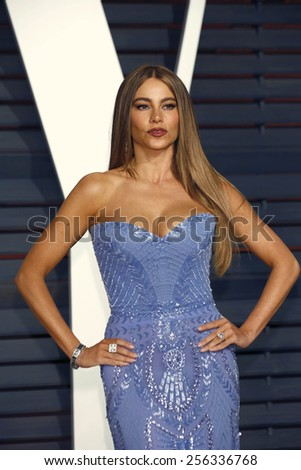LOS ANGELES - FEB 22:  Sofia Vergara at the Vanity Fair Oscar Party 2015 at the Wallis Annenberg Center for the Performing Arts on February 22, 2015 in Beverly Hills, CA - stock photo