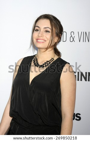 """LOS ANGELES - FEB 15:  Sophie Simmons at the """"Adult Beginners"""" Los Angeles Premiere at the ArcLight Hollywood Theaters on April 15, 2015 in Los Angeles, CA - stock photo"""