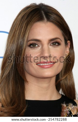 LOS ANGELES - FEB 21:  Stana Katic at the 30th Film Independent Spirit Awards at a tent on the beach on February 21, 2015 in Santa Monica, CA - stock photo