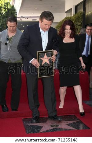 LOS ANGELES - FEB 14:  Stephen Baldwin, Alec Baldwin, Megan Mullally at the Walk of Fame Star Ceremony for Alec Baldwin at Beso Resturant on February 14, 2011 in Los Angeles, CA